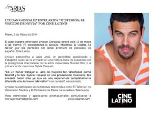 Lyduan Gonzalez estelariza en Cine Latino