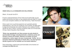 Omar Avila en CLEANERS